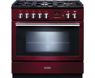 Rangemaster Professional Plus FXP 90cm Dual Fuel Range Cooker - Cranberry - A Rated