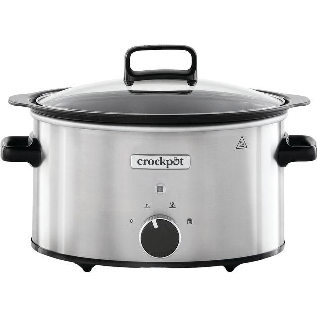 Crockpot CSC085 3.5 Litre Slow Cooker - Black / Stainless Steel