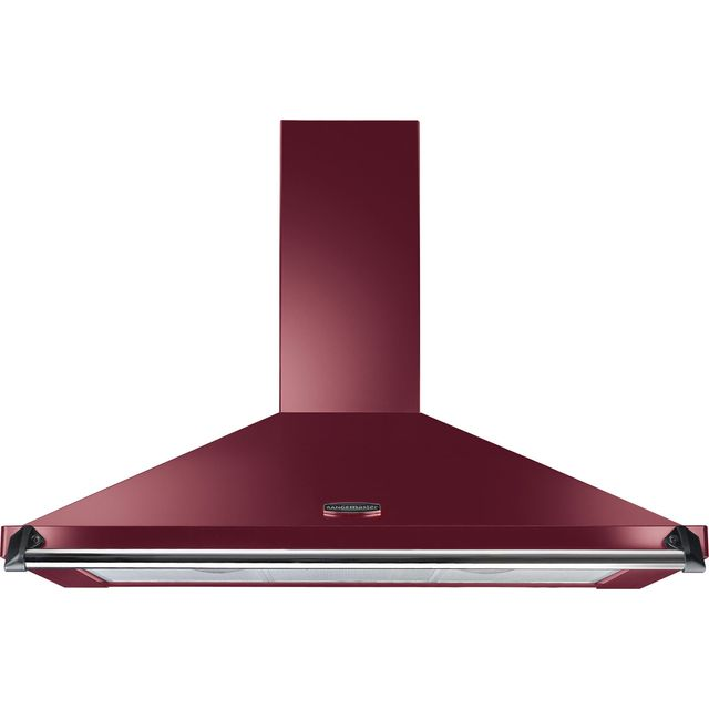 Rangemaster Classic 110 cm Chimney Cooker Hood - Cranberry / Chrome - E Rated