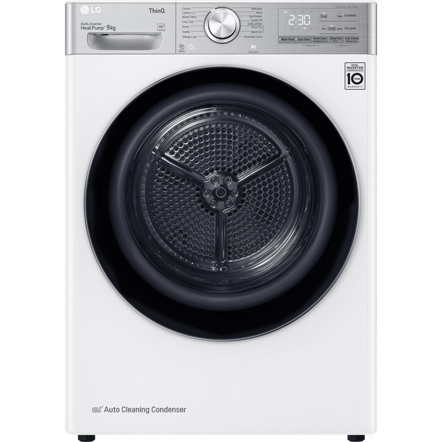LG V11 FDV1109W Wifi Connected 9Kg Heat Pump Tumble Dryer - White - A+++ Rated