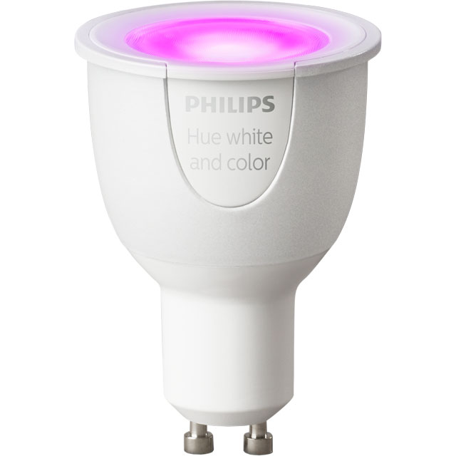 Philips Hue White and Colour Ambiance GU10 Single Lamp - A Rated - 929000261705 - 1