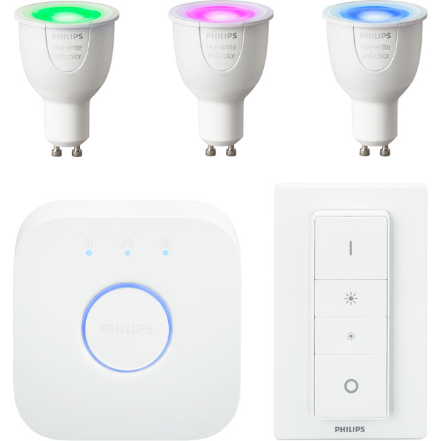 Philips Hue White and Colour Ambiance GU10 Starter - A Rated - 929000261761 - 1