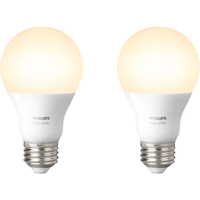 Philips Hue White E27 Twin Pack - A+ Rated - 929001137062 - 1