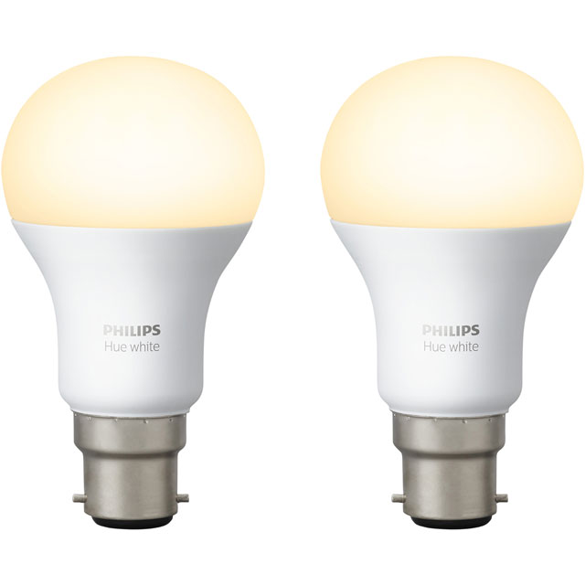Philips Hue White B22 Twin Pack - A+ Rated - 929001137161 - 1