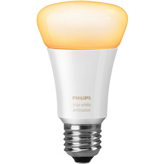 Philips Hue White Ambiance E27 Single Lamp - A+ Rated - 929001200103 - 1
