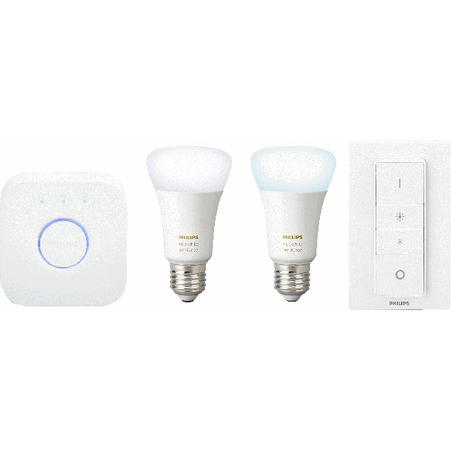 Philips Hue White Ambiance E27 Starter Kit - A+ Rated - 929001200109 - 1