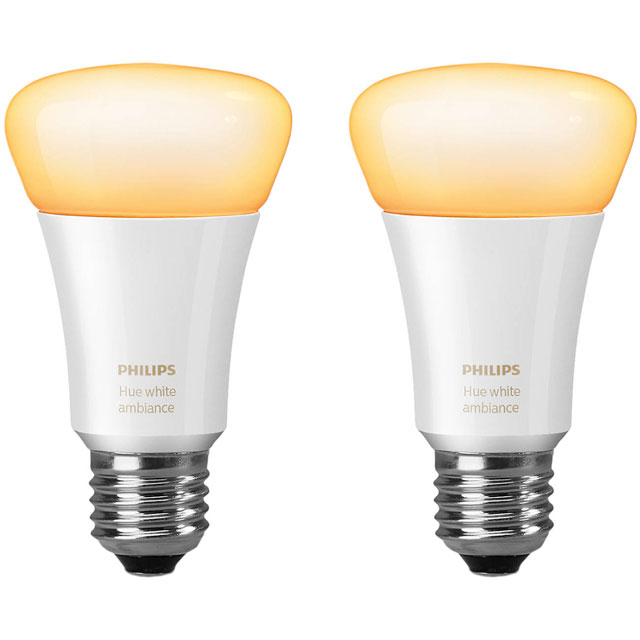 Philips Hue White Ambiance E27 Twin Pack - A+ Rated