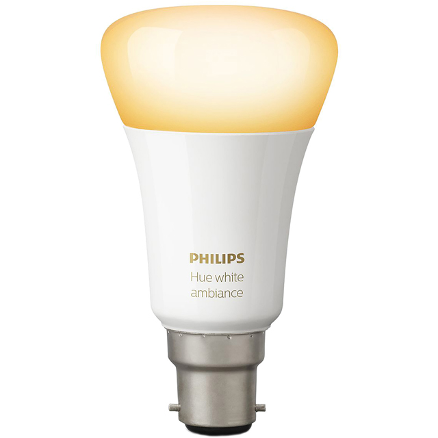 Philips Hue White Ambiance B22 Single Lamp - A+ Rated - 929001200201 - 1