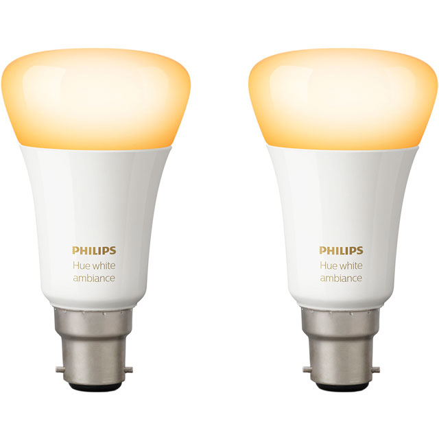 Philips Hue White Ambiance B22 Twin Pack - A+ Rated
