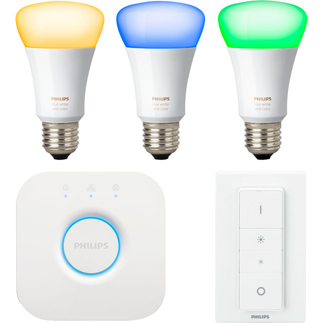 Philips Hue White and Colour Ambiance E27 Starter - A+ Rated