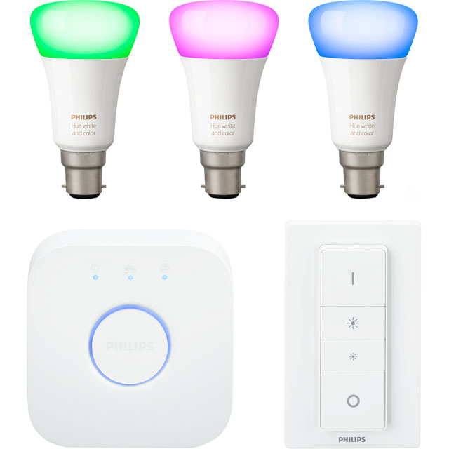 Philips Hue White and Colour Ambiance B22 Starter - A+ Rated - 929001257461 - 1