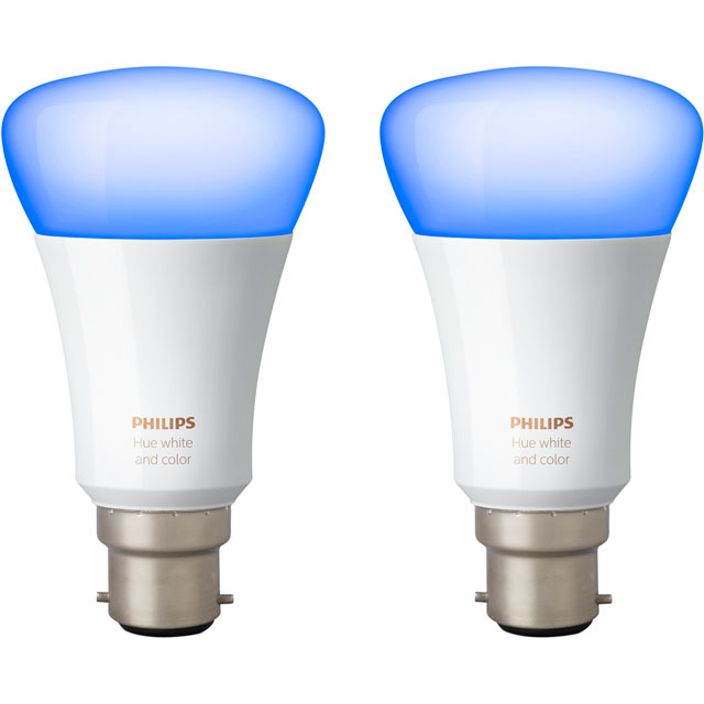 Philips Hue White and Colour Ambiance B22 Twin Pack - A+ Rated - 929001257462 - 1