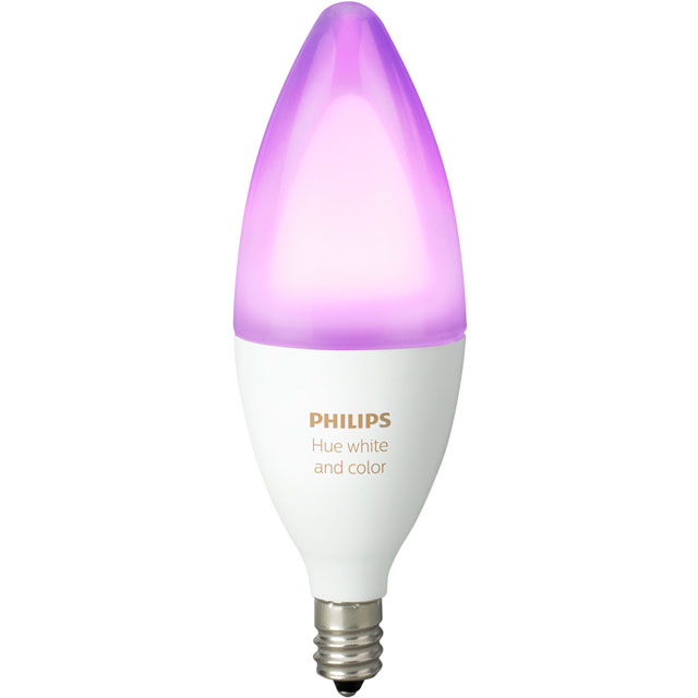 Philips Hue White and Colour Ambiance E14 Single Lamp - A+ Rated - 929001301301 - 1