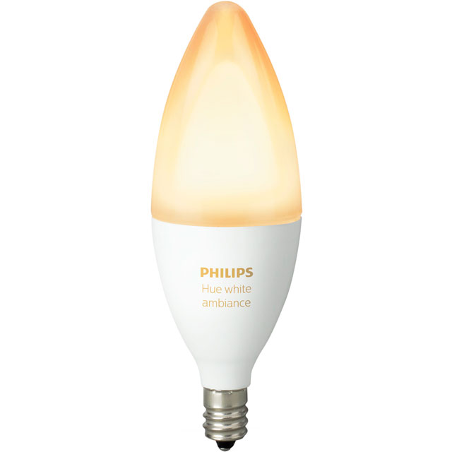 Philips Hue White Ambiance E14 Single Lamp - A+ Rated - 929001301401 - 1
