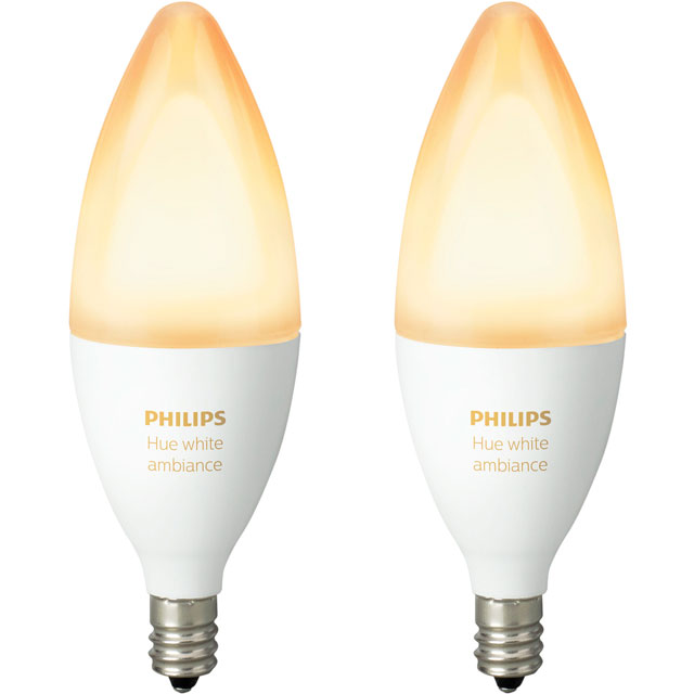 Philips Hue White Ambiance E14 Double Pack - A+ Rated - 929001301402 - 1
