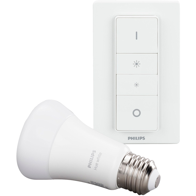 Philips Hue Warm White E27 Wireless Dimming Kit - A+ Rated