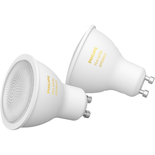 Philips Hue White Ambiance GU10 Twin Pack - A+ Rated