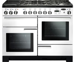 Rangemaster Professional Deluxe 110cm Dual Fuel Range Cooker - White - A Rated