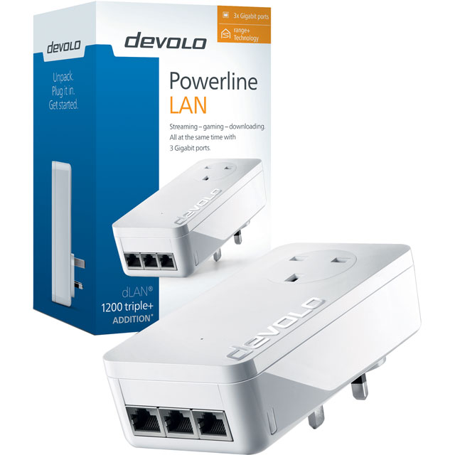 Devolo dLAN Powerline 1200 TRIPLE PLUS Dual Band Powerline