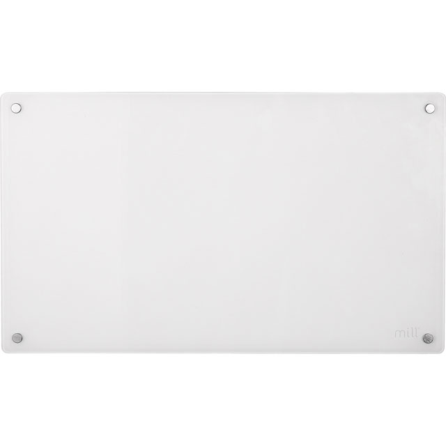 Mill Heat Panel Heater in White