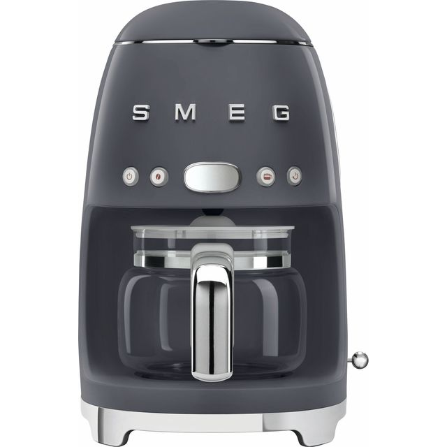 Smeg 50's Retro DCF02GRUK Filter Coffee Machine with Timer - Grey