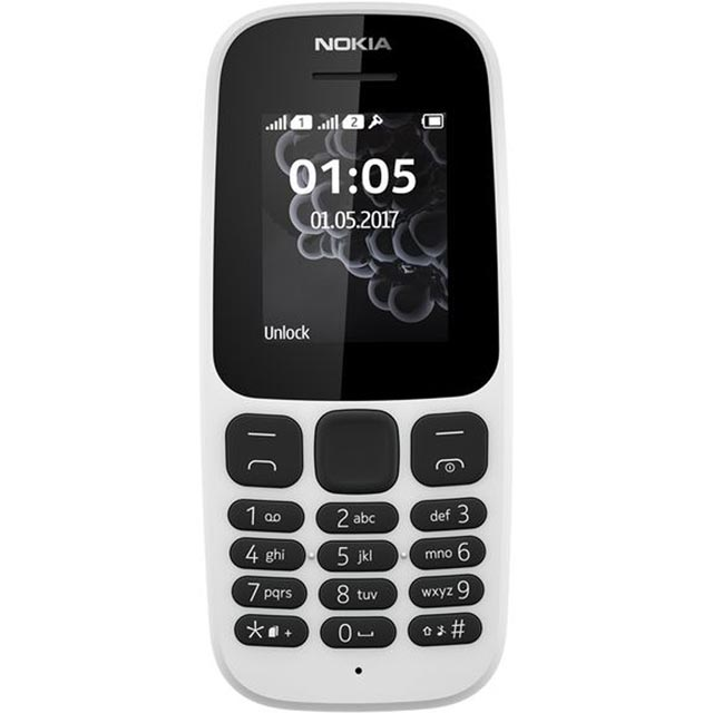 Nokia 105 A00028627 Mobile Phone in White