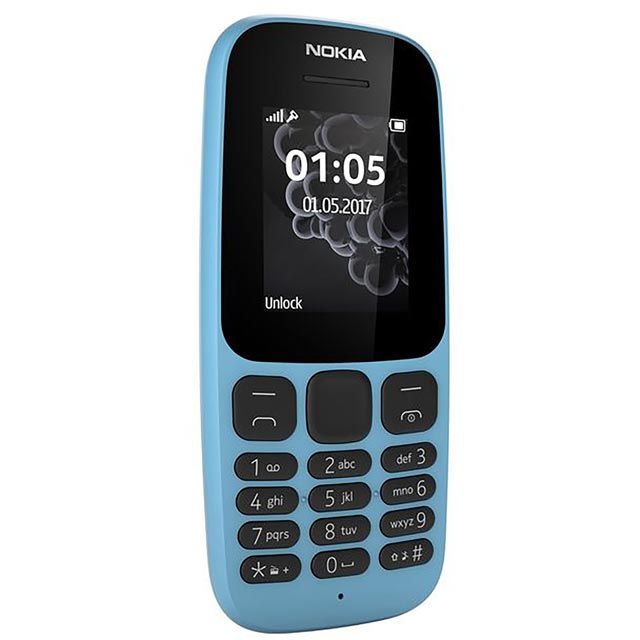 Nokia 105 A00028673 Mobile Phone in Blue