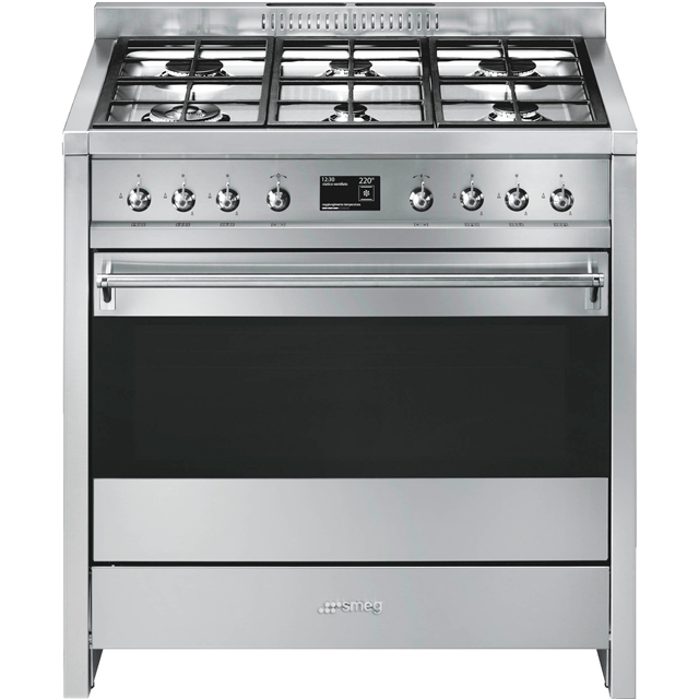 Smeg Opera A1-9 90cm Dual Fuel Range Cooker - Stainless Steel - A+ Rated