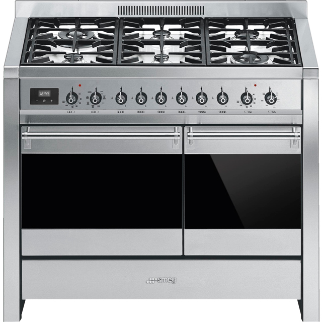 Smeg Opera A2-81 100cm Dual Fuel Range Cooker - Stainless Steel - A/B Rated - A2-81_SS - 1