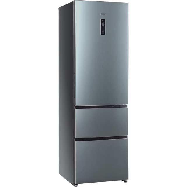 haier hrf 628if6 free standing american fridge freezer in stainless steel look. Black Bedroom Furniture Sets. Home Design Ideas