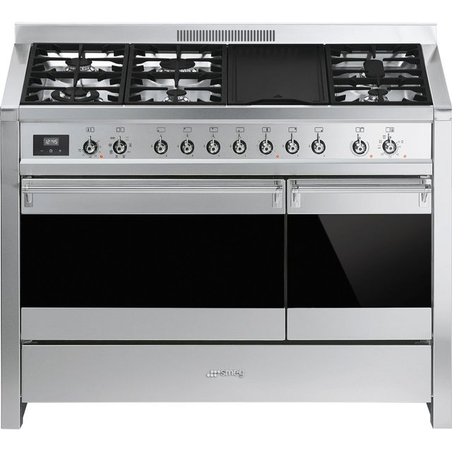 Smeg Opera A3-81 120cm Dual Fuel Range Cooker - Stainless Steel - B/B Rated - A3-81_SS - 1
