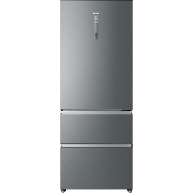 Haier A3FE743CPJ American Fridge Freezer - Stainless Steel Effect - A++ Rated