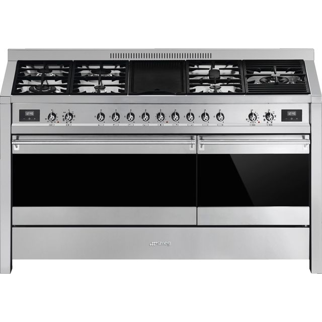 Smeg Opera A5-81 150cm Dual Fuel Range Cooker - Stainless Steel - A/A Rated - A5-81_SS - 1