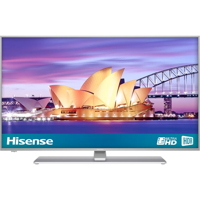 "Hisense H43A6550UK 43"" Smart 4K Ultra HD TV with HDR and Freeview Play - Black / Silver - [B Rated] - H43A6550UK - 1"