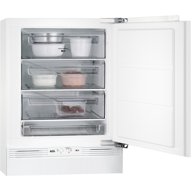 AEG ABB6821VAF Integrated Under Counter Freezer with Fixed Door Fixing Kit - A+ Rated