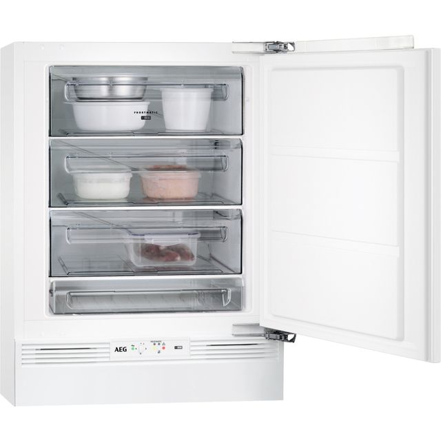 Image of AEG ABB682F1AF Integrated Under Counter Freezer with Fixed Door Fixing Kit - A+ Rated
