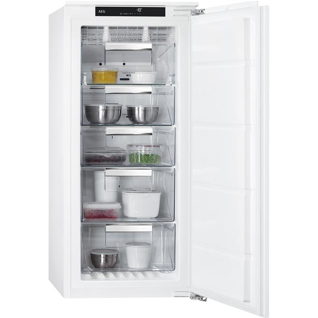 AEG ABB81216NF Integrated Frost Free Upright Freezer with Fixed Door Fixing Kit - A+ Rated