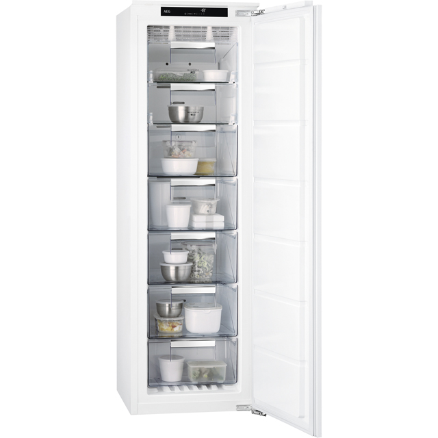 AEG ABB8181VNC Integrated Frost Free Upright Freezer with Sliding Door Fixing Kit - A+ Rated