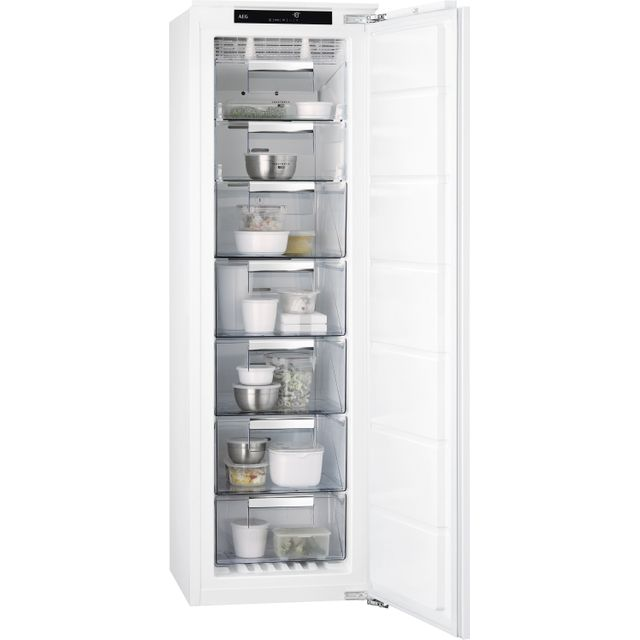 Image of AEG ABB818F6NC Integrated Frost Free Upright Freezer with Fixed Door Fixing Kit - A+ Rated