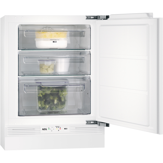 AEG ABE6821VNF Integrated Frost Free Under Counter Freezer with Fixed Door Fixing Kit - A+ Rated - ABE6821VNF_WH - 1
