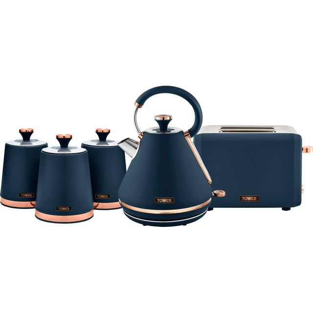 Tower ABOUNDLE024 Kettle And Toaster Set - Midnight Blue