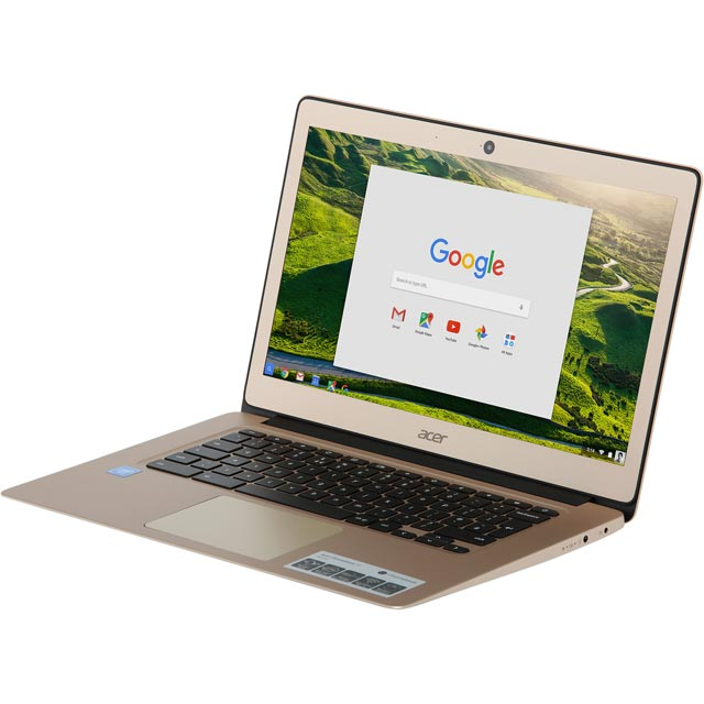 "Acer CB3-431 14"" Full HD Chromebook - Gold - NX.GJEEK.002 - 1"