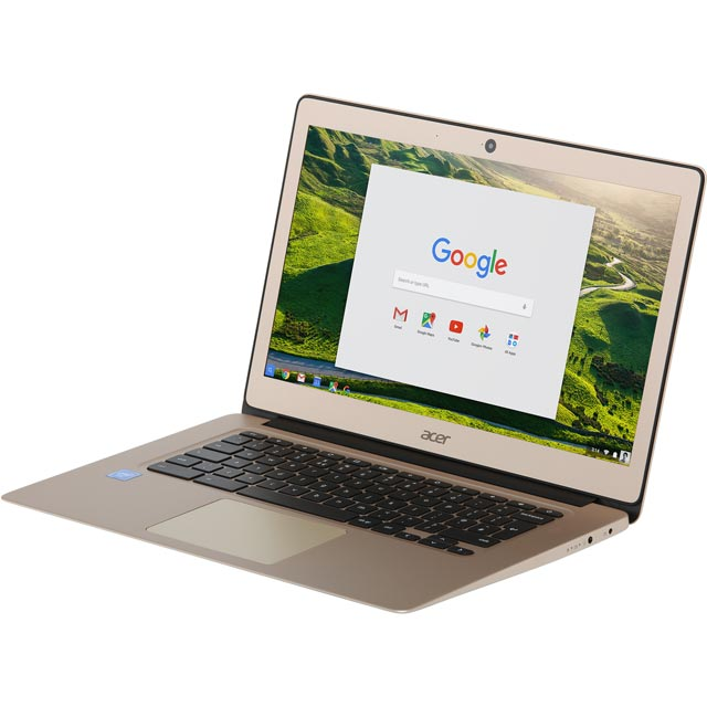 "Acer CB3-431 14"" Chromebook - Gold - NX.GJEEK.007 - 1"