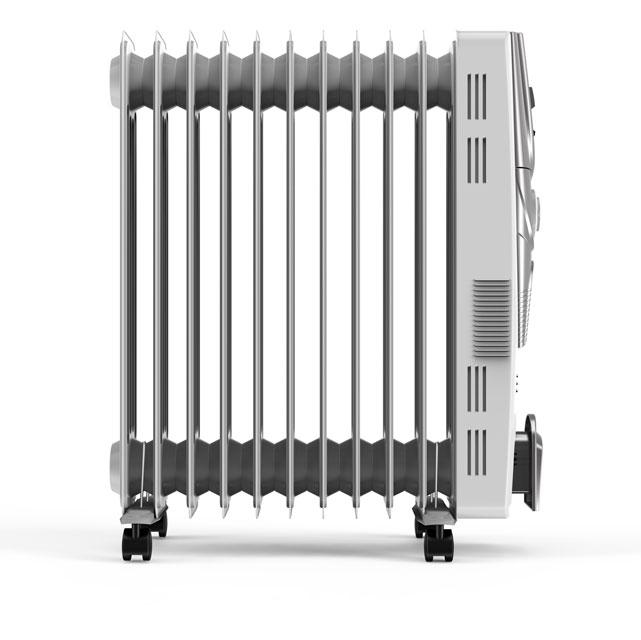 Vax PowerHeat 2500w ACH3V101 Oil Filled Radiator in White