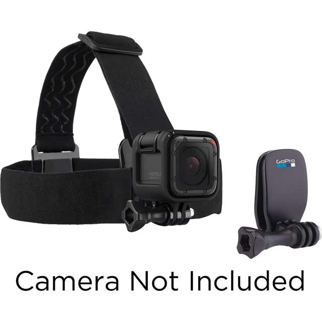 GoPro Head Strap + QuickClip ACHOM-001 Camera Accessory in Black