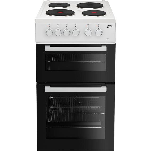Beko AD531AW 50cm Electric Cooker with Solid Plate Hob - White - A Rated