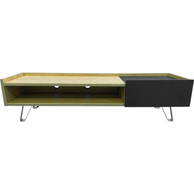 Image of Alphason ADBE1500OAK 0 Shelf TV Stand - Oak