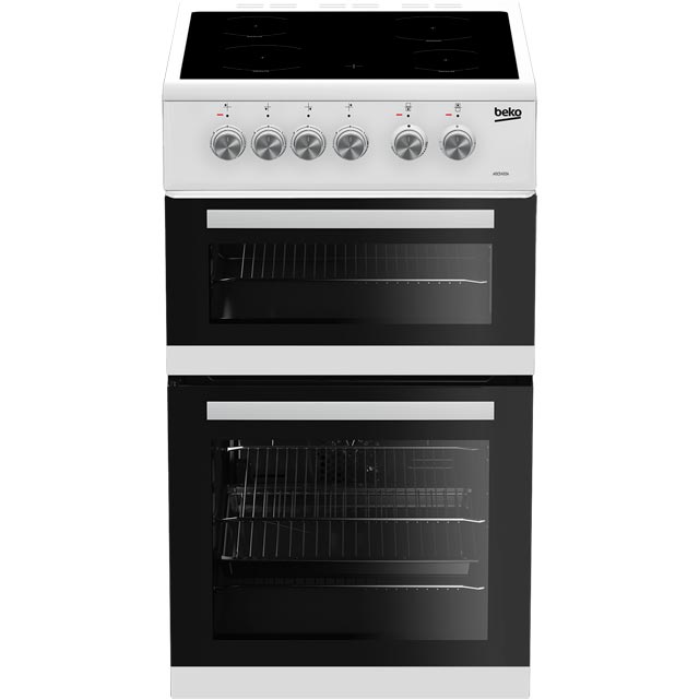 Beko ADC5422AW 50cm Electric Cooker with Ceramic Hob - White - A Rated - ADC5422AW_WH - 1