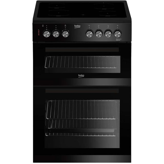 Beko ADC6M13K 60cm Electric Cooker with Ceramic Hob - Black - A/A Rated Best Price, Cheapest Prices