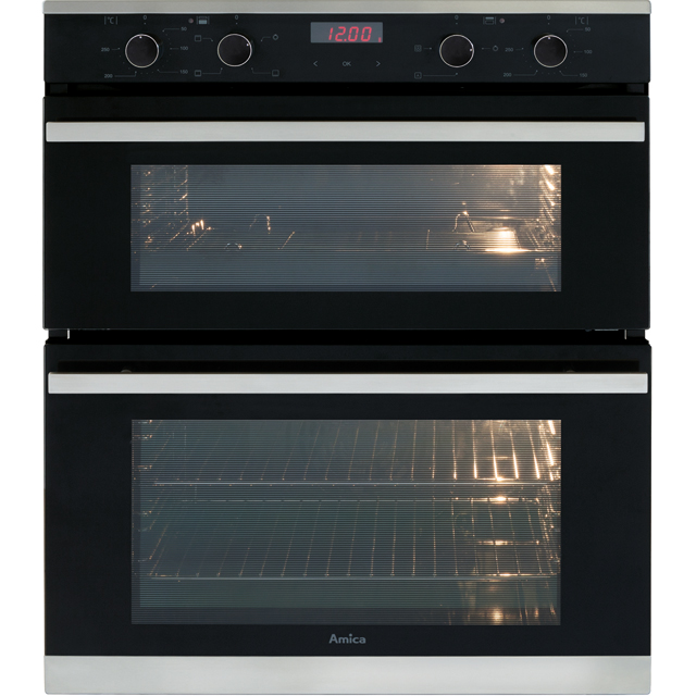 Amica ADC700SS Built Under Double Oven - Stainless Steel - A/A Rated - ADC700SS_SS - 1